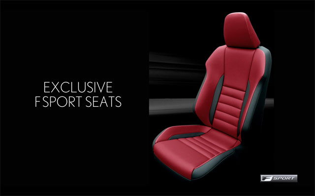 Lexus NX F SPORT Front Seats