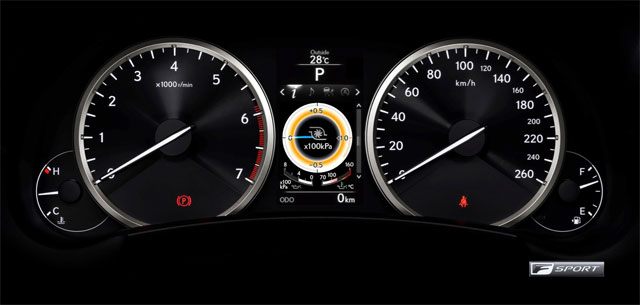 Lexus NX F SPORT Instrument Panel
