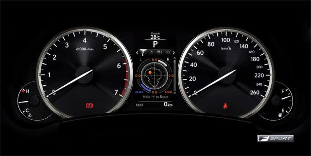 Lexus NX G Meter