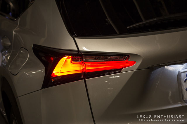 Lexus NX Taillamp Lit Up