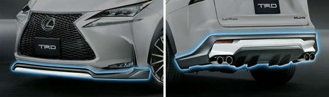 Lexus NX Body Kit TRD Closeup