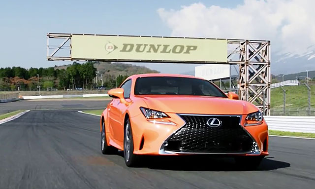 Lexus RC F SPORT Lava Orange