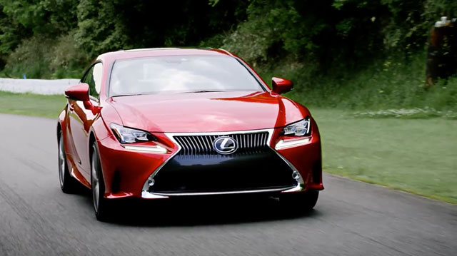 Lexus RC Driving Footage