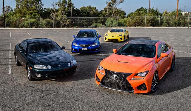 Lexus LFA, IS F, RC F, & SC