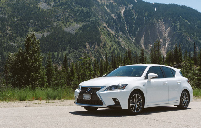 Lexus CT Mountains