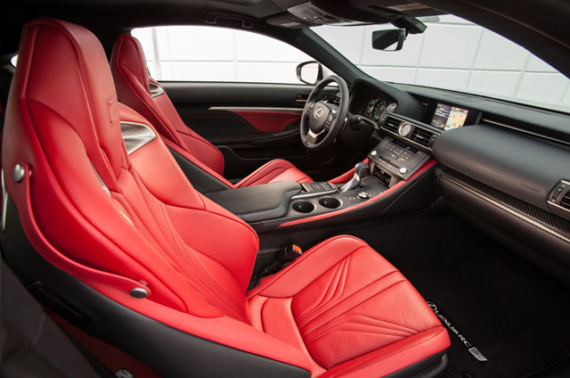 Lexus RC F Seating