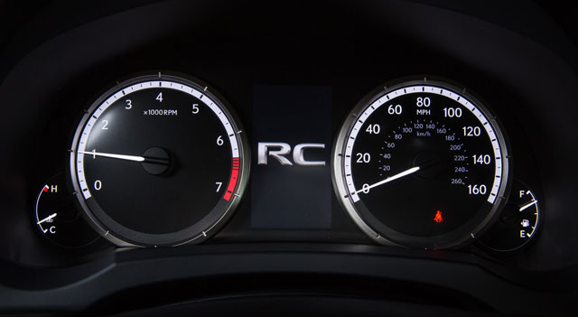 Lexus RC Instrument Panel
