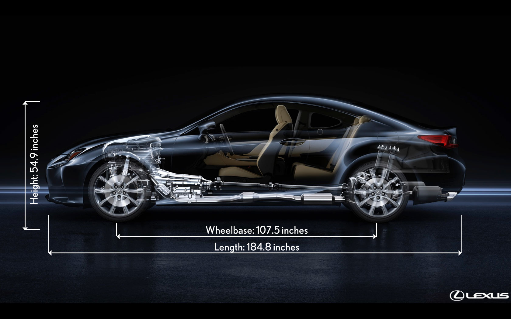 Lexus RC Size