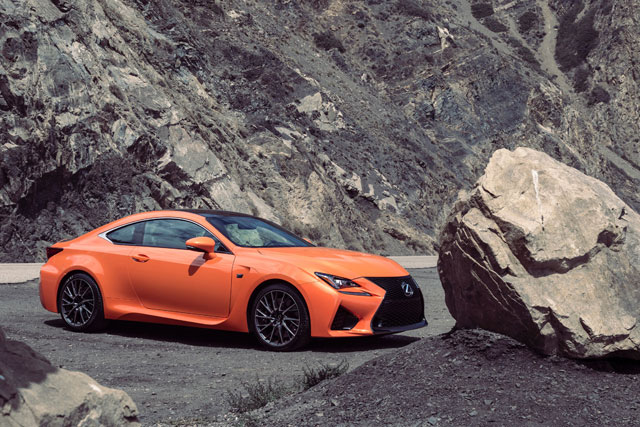 Lexus RC F Rock Hard Place