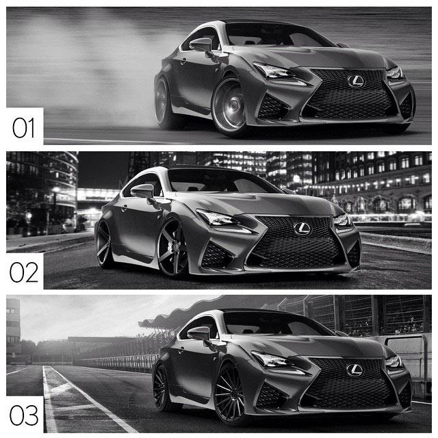 Lexus Insta-Build RC F Choices