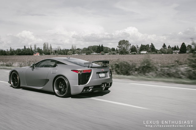 Lexus LFA OpenRoad Side Driving