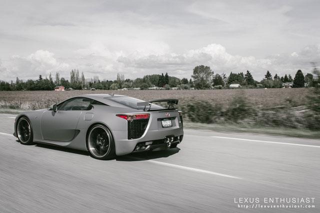 Lexus LFA OpenRoad Side Driving