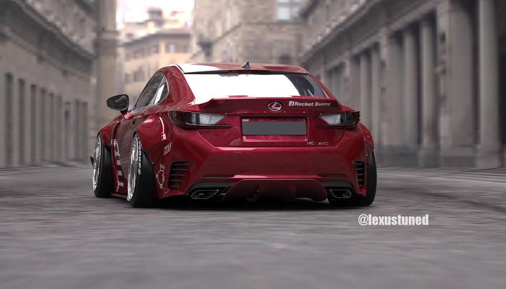 Lexus RC Rocket Bunny Rear