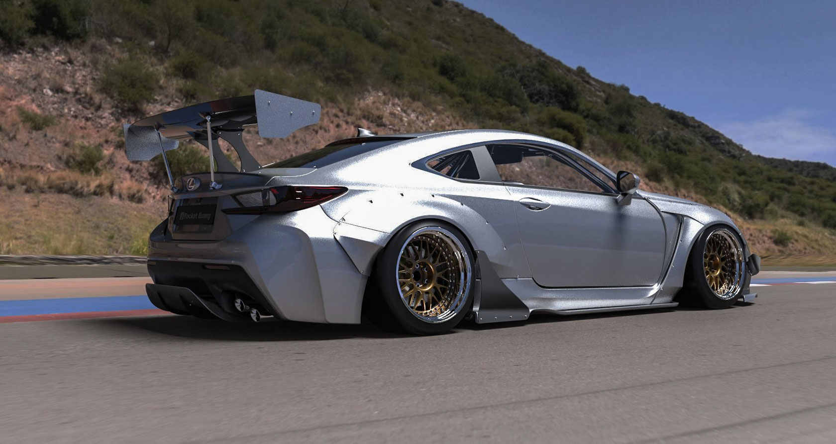 Lexus Rc F Rocket Bunny Rear