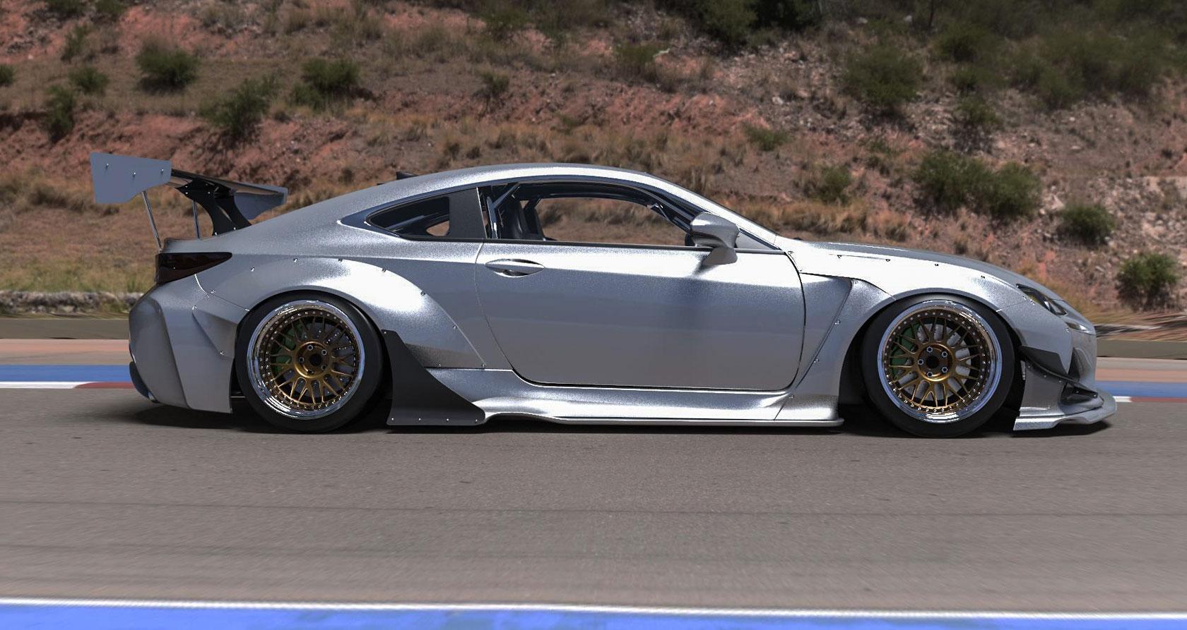 Lexus Rc F Rocket Bunny Side