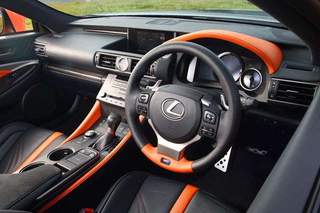 Lexus RC F Orange & Black Interior