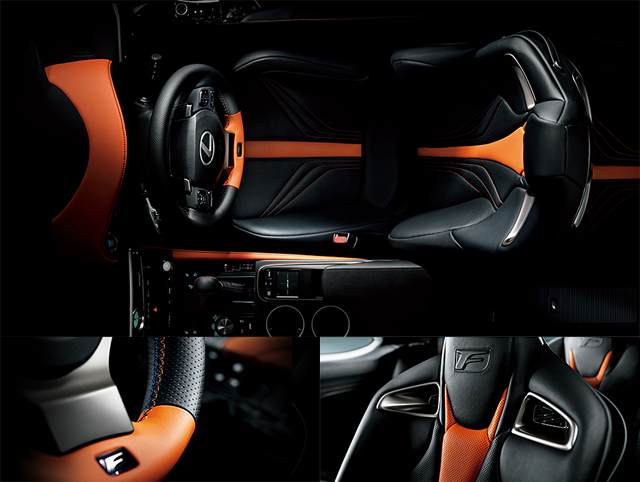 Lexus RC F Orange & Black Interior Official