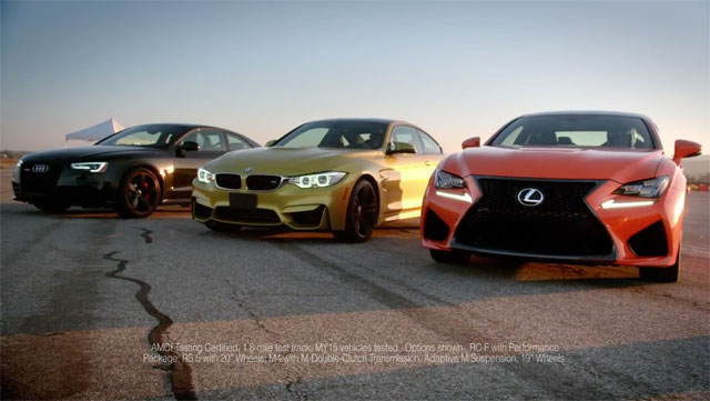 Lexus RC F BMW M4 Audi RS 5