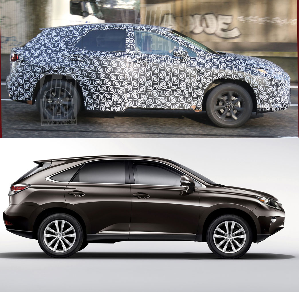Lexus RX Prototype vs Current model