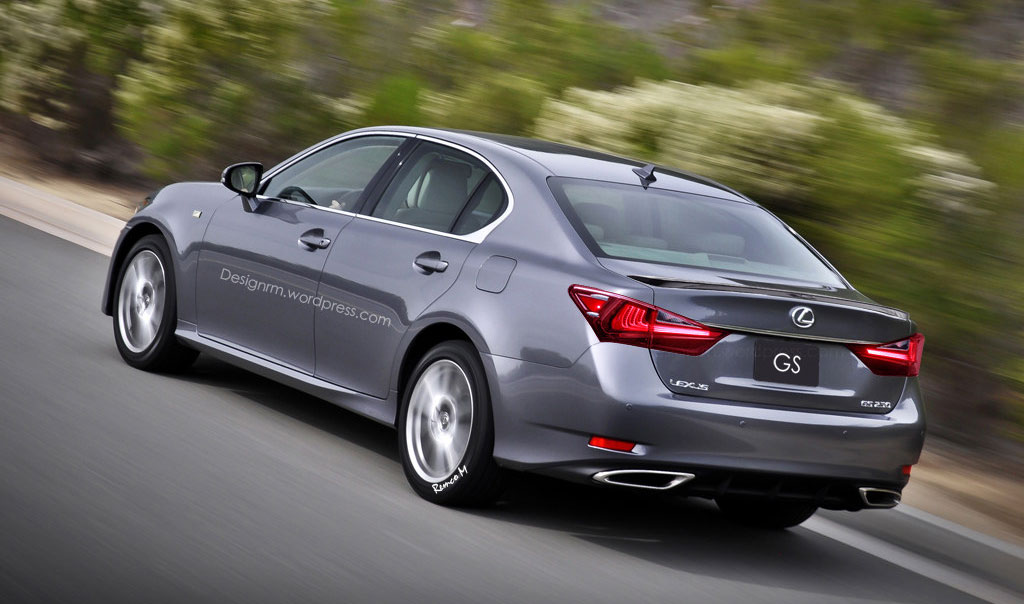 Lexus GS Rendering Rear