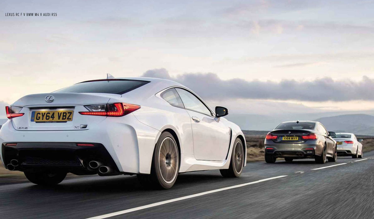 Lexus RC F BMW M4 Audi RS5