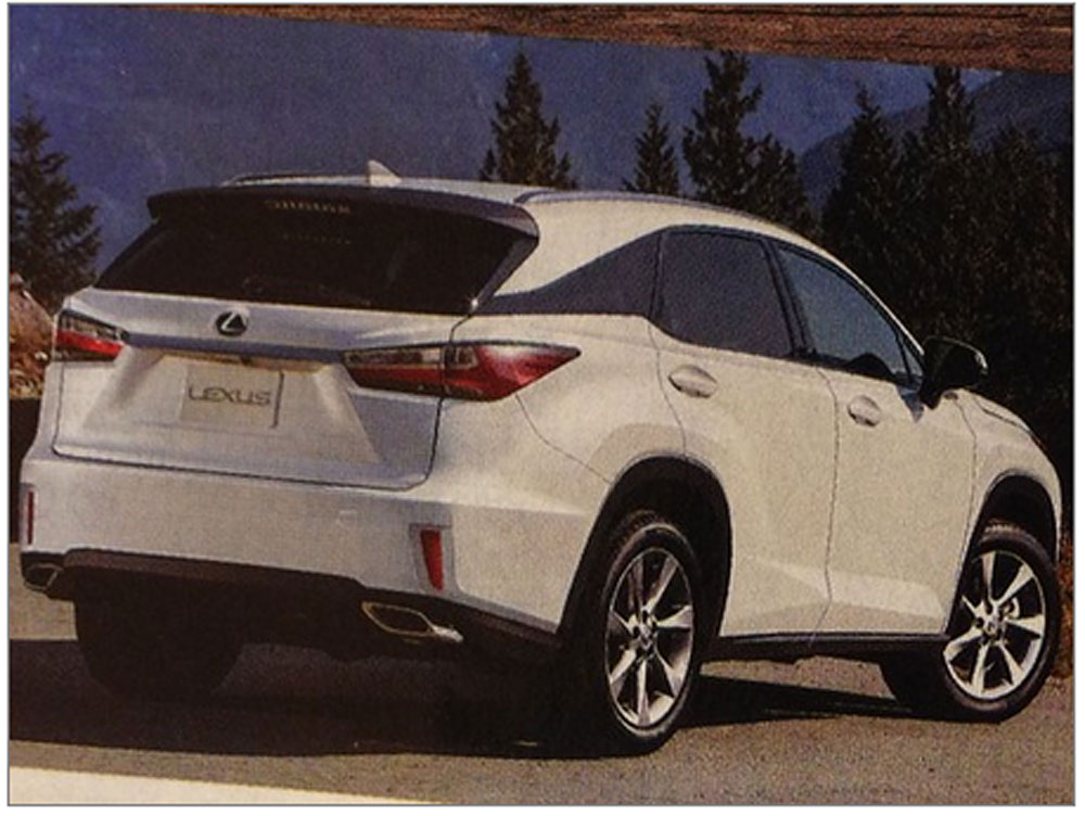 Lexus RX Rendering Rear