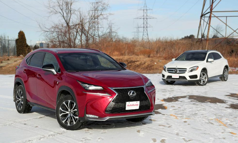 Lexus Nx Vs Rx >> AutoGuide Comparison: The Lexus NX 200t vs. Mercedes GLA ...