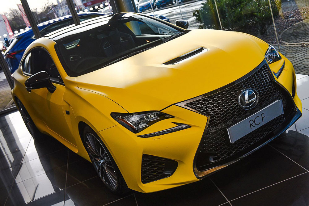 Lexus RC F Yellow Wrap