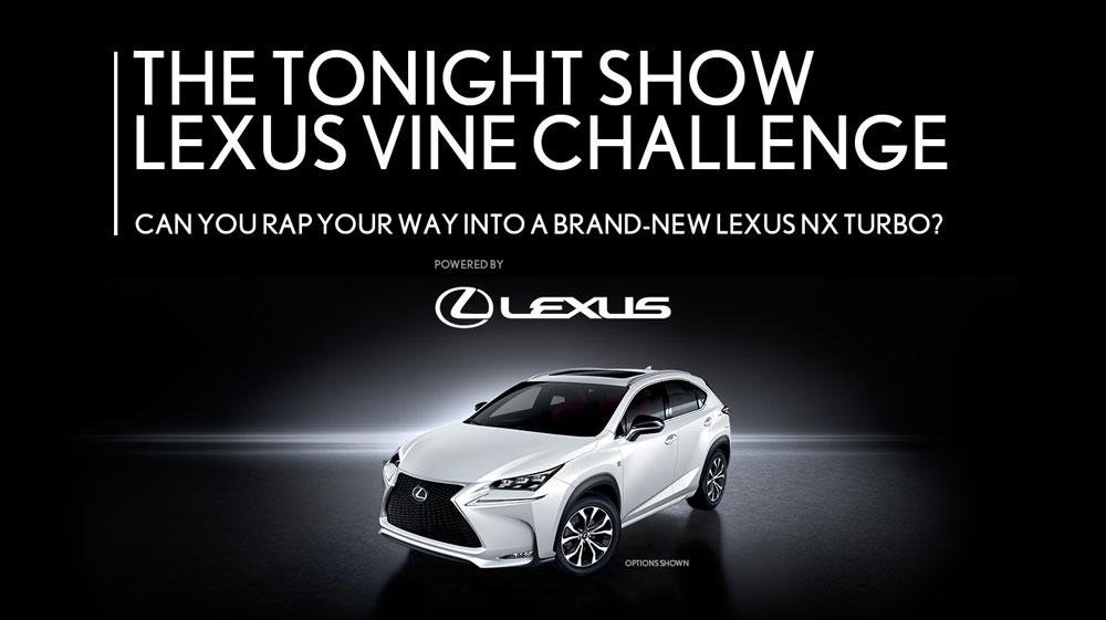 Lexus NX Vine Challenge Tonight Show