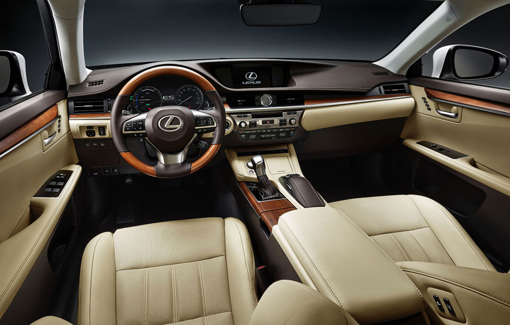 ... luxurious interior and the new safety system, Lexus Safety System+