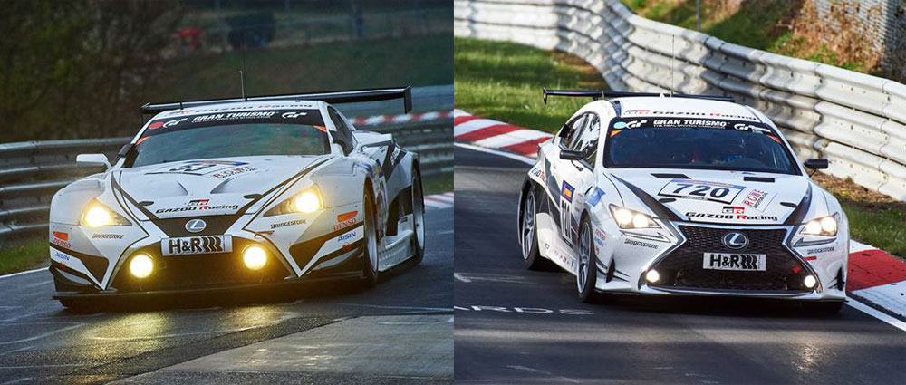 Lexus RC 200t and Lexus LFA Code X VLN Nürburgring