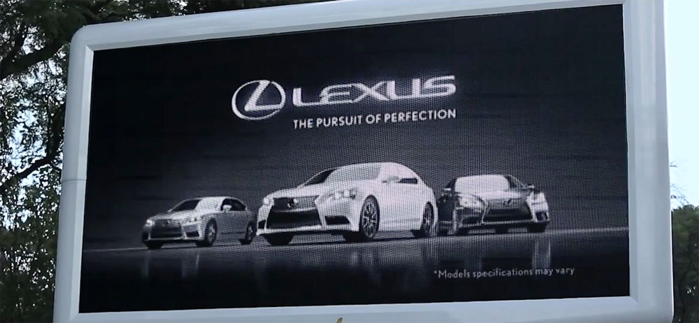 Lexus LS Billboard Reads Minds