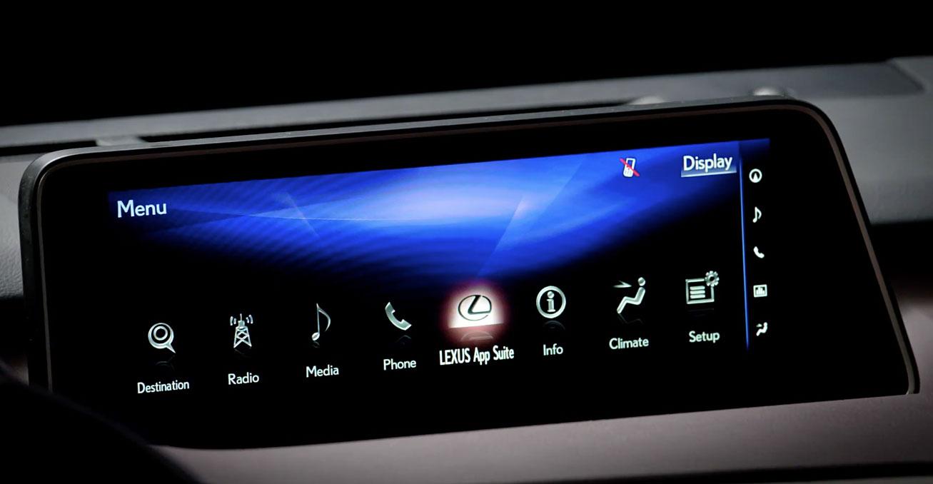 Lexus RX Redesigned Infotainment