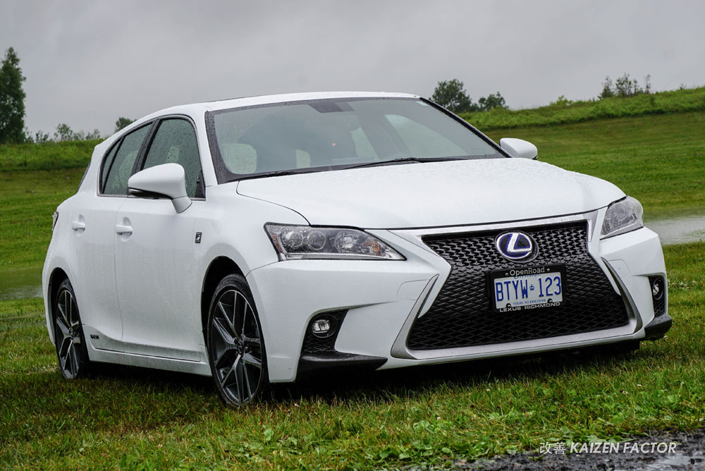 Lexus CT in the Rain