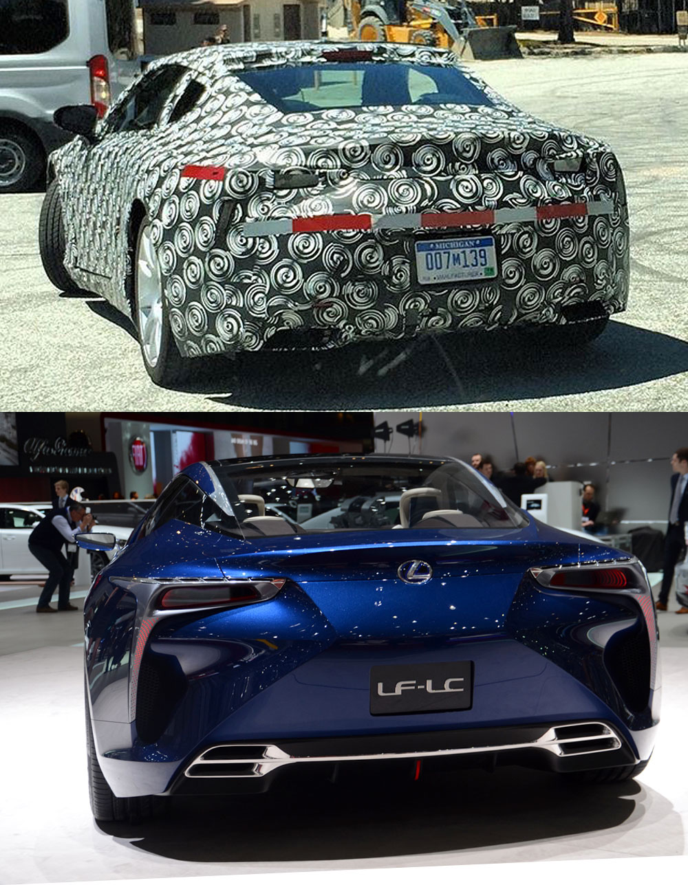 Lexus LF-LC vs LC production