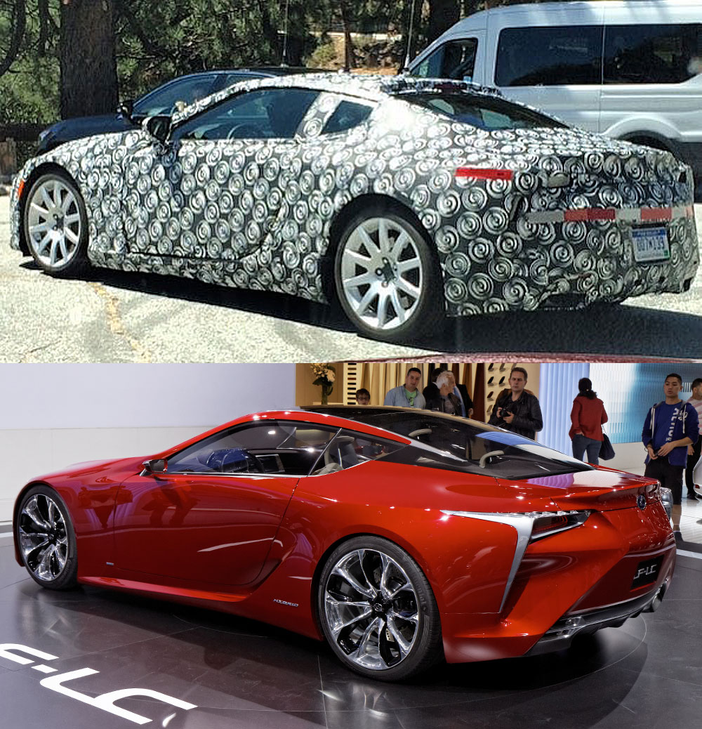 Lexus LF-LC Concept vs. Production