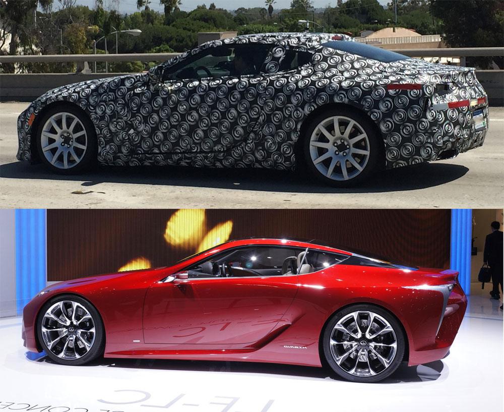 Lexus LF-LC Prototype vs Concept