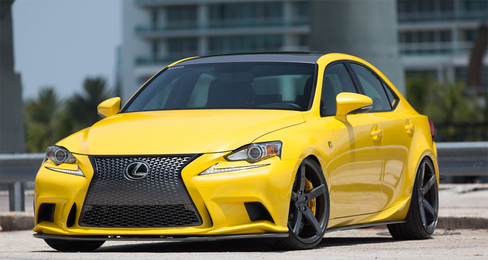 Lexus IS F SPORT in LFA Yellow