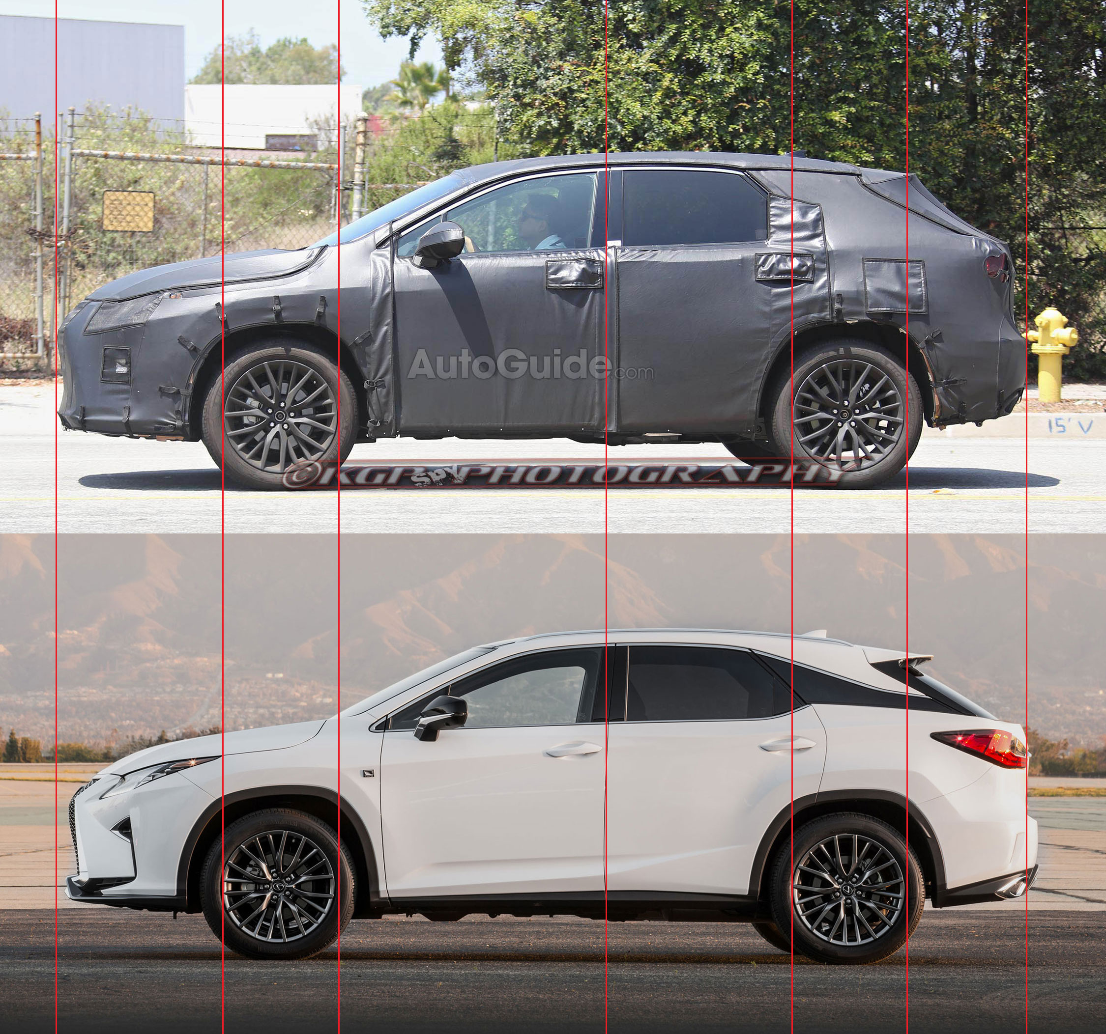 Lexus RX Prototype Comparison