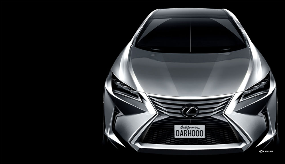 2016 Lexus RX Sketch 2