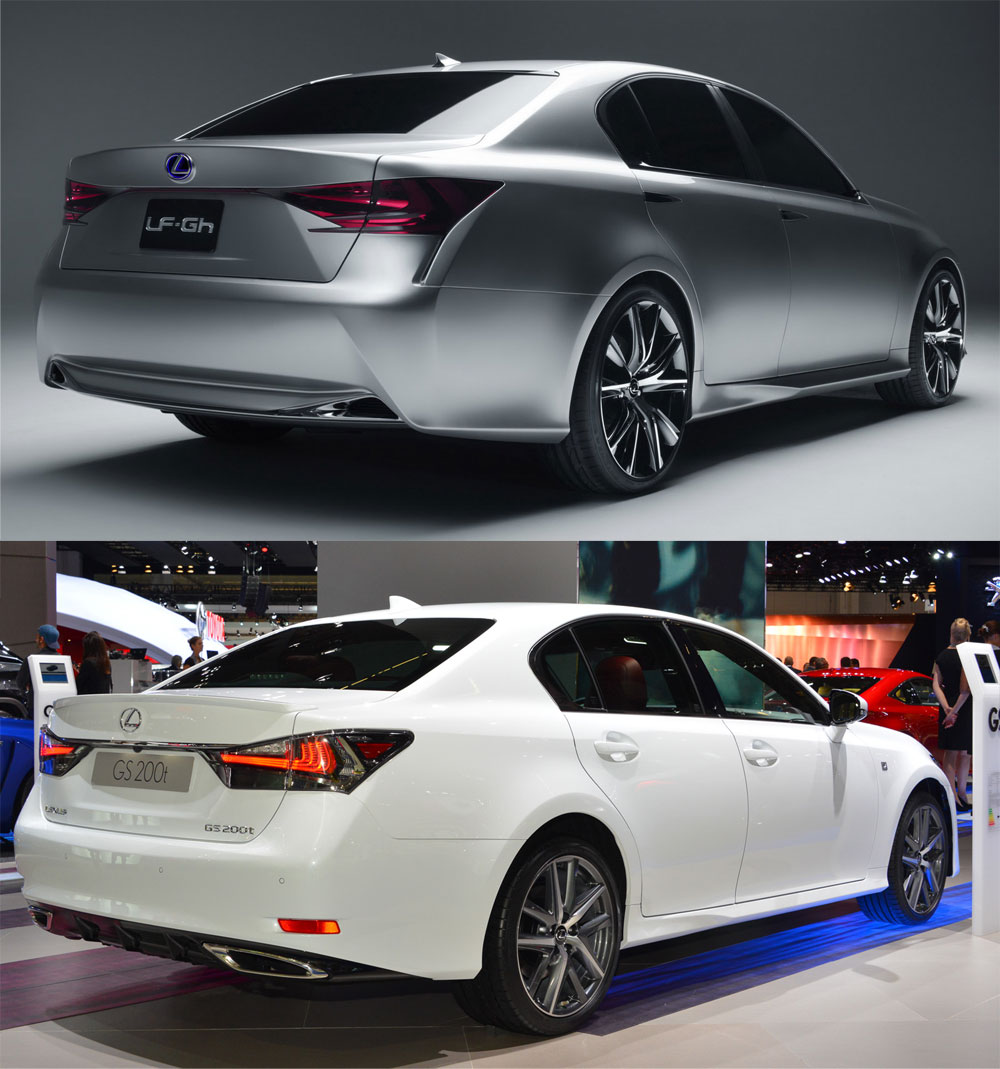 Lexus GS F SPORT vs Lexus LF-Gh
