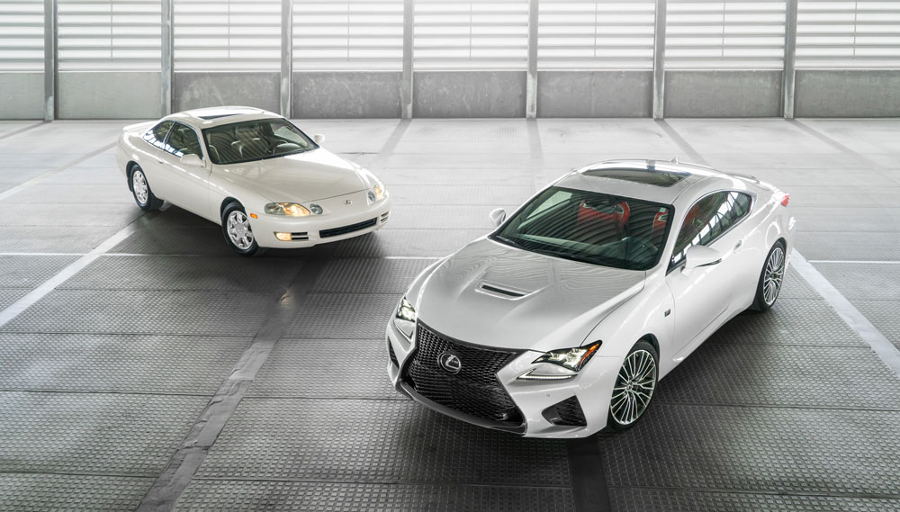 Lexus RC F and SC 400 together Photos