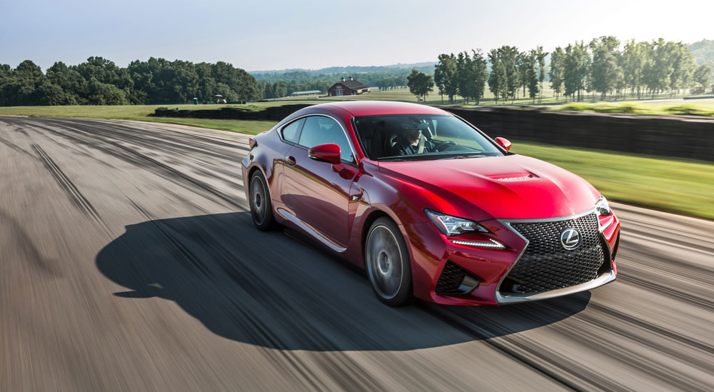 Lexus RC F Car Driver Lightning Lap