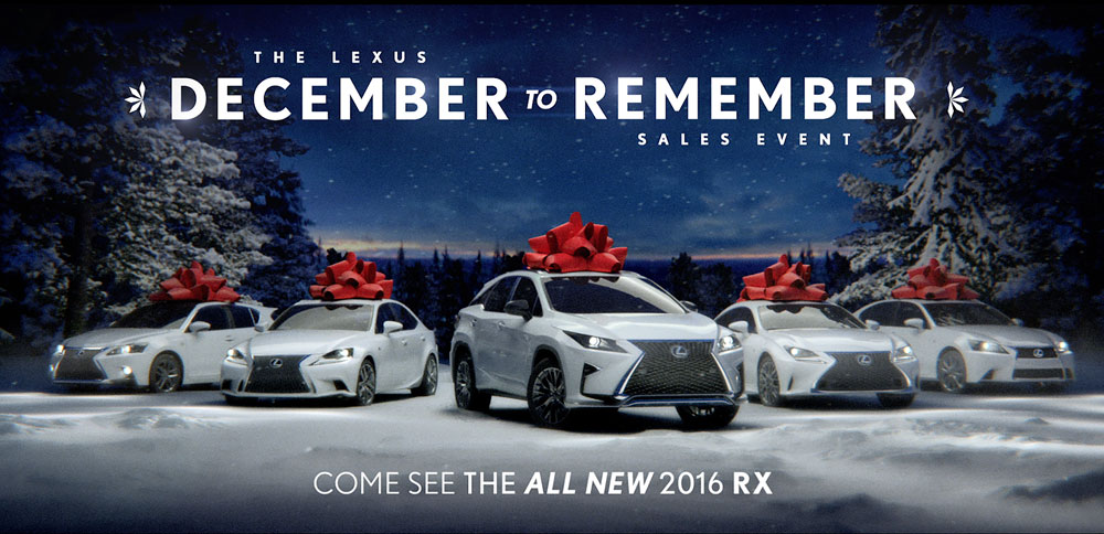 Beautiful Lexus USA December To Remember
