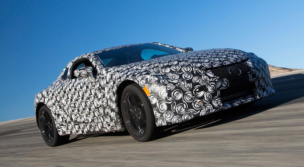Lexus LC Prototype Driving