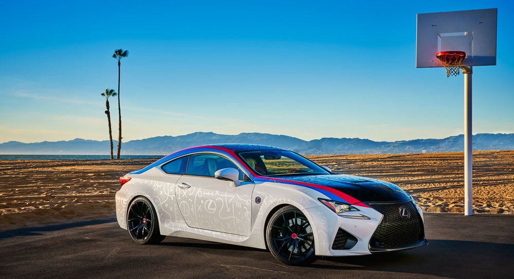 Lexus Customized RC F LA Clippers