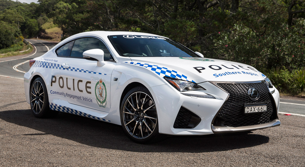 Lexus RC F Police Car Australia