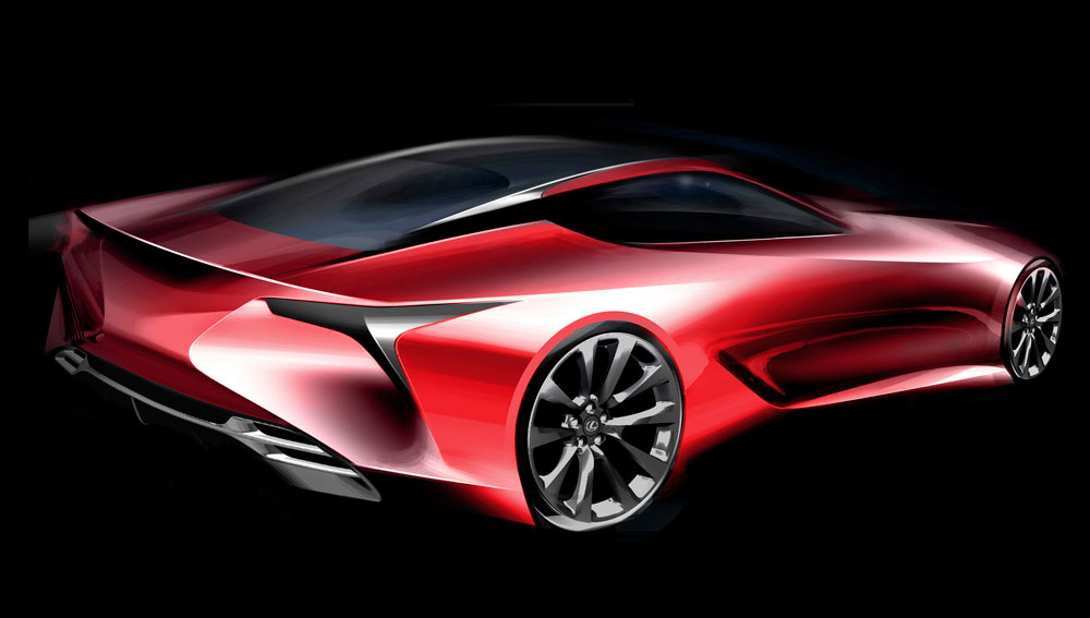 Lexus LC Sketch Rear
