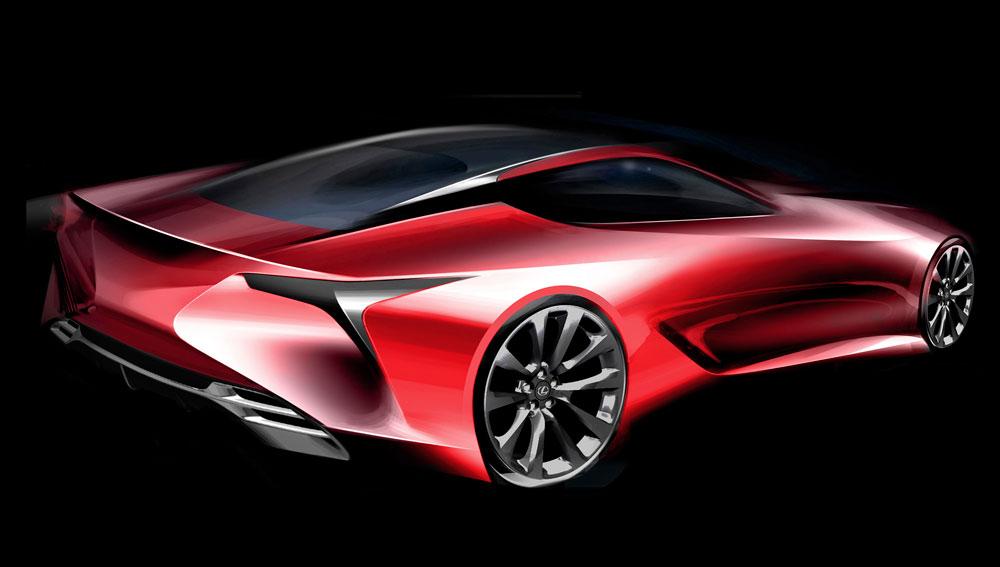 Lexus LC Sketch Rear