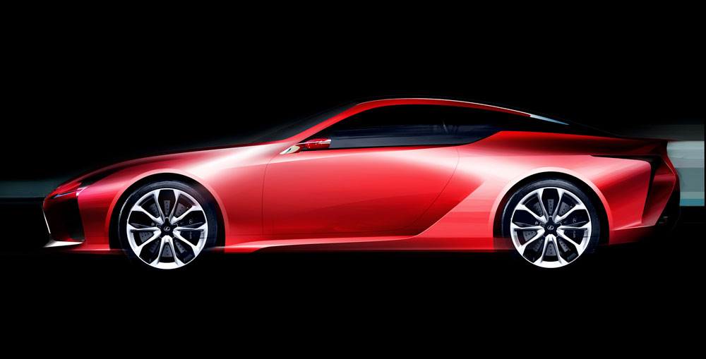 Lexus LC Sketch Side